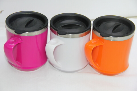 Cheap Stainless Steel Promotional Cups With Lid 450ml