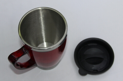 Cheap Stainless Steel Promotional Cups With Lid 450ml #00102-2