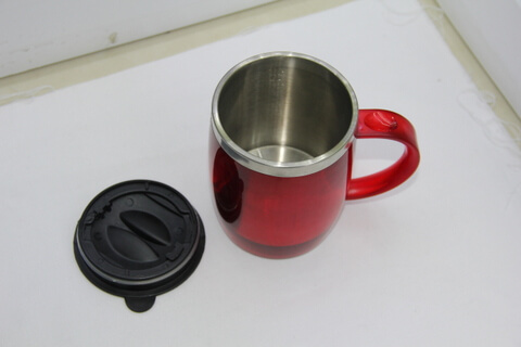 Cheap Stainless Steel Promotional Cups 450ml Neon Red #00105 1