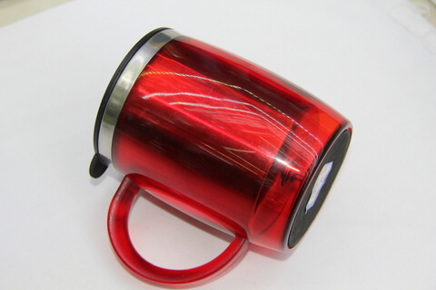 Cheap Stainless Steel Promotional Cups 450ml Neon Red #00105 2