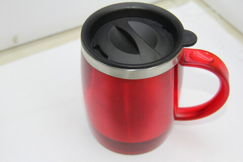 Cheap Stainless Steel Promotional Cups 450ml Neon Red #00105