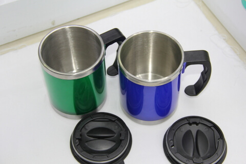 Cheap Stainless Steel Promotional Cups Bright Blue and Green #00106 2