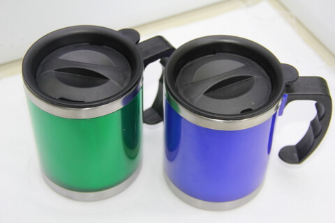 Cheap Stainless Steel Promotional Cups Bright Blue and Green #00106
