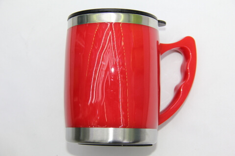 Cheap Stainless Steel Promotional Cups Bright Red #00107
