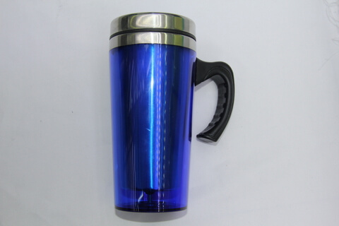 Cheap Stainless Steel Promotional Cups Clear Out Layer #00113