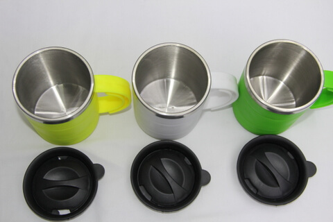 Cheap Stainless Steel Promotional Cup Silicon Rubber #00117 1