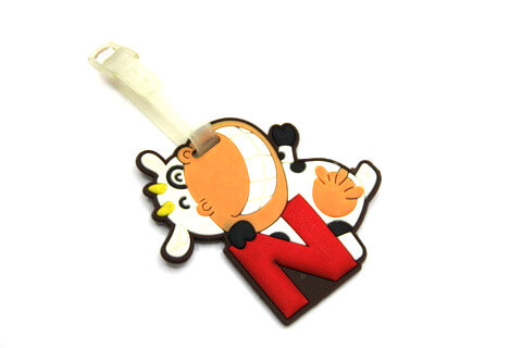 Silicone/Rubber luggage tags, cartoon, sheep, #02001-005