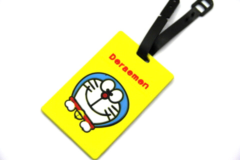 Silicone/Rubber luggage tags, cartoon,doraemon, #02001-0019-2