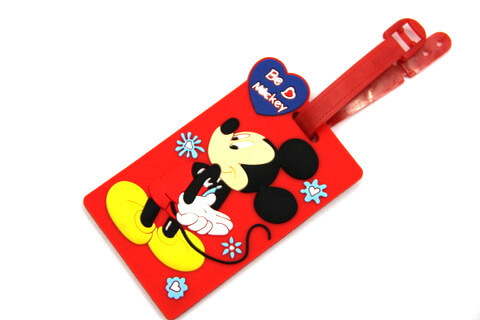 Silicone/Rubber luggage tags, cartoon,mikey, #02001-0020-2