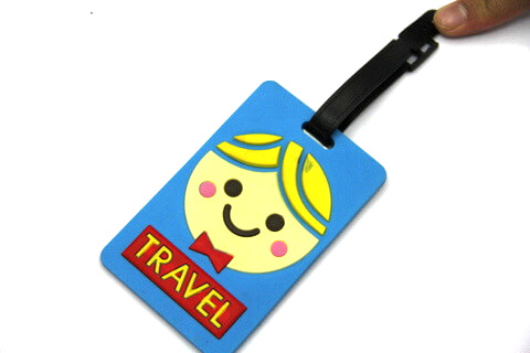 Silicone/Rubber luggage tags, cartoon,travel, #02001-0022-3