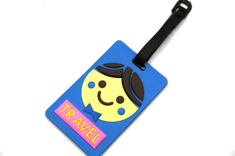 Silicone/Rubber luggage tags, cartoon,travel, #02001-0022-4