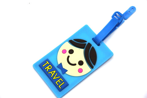 Silicone/Rubber luggage tags, cartoon,travel, #02001-0022-5
