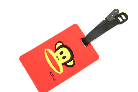 Silicone/Rubber luggage tags, cartoon,frank paul , #02001-0025-1