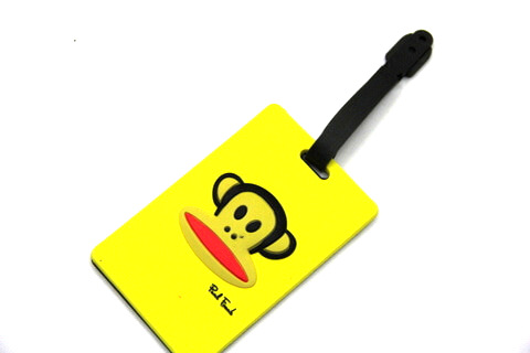 Silicone/Rubber luggage tags, cartoon,frank paul , #02001-0025-3
