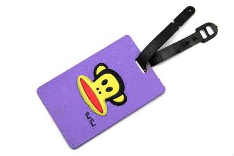 Silicone/Rubber luggage tags, cartoon,frank paul , #02001-0025-4