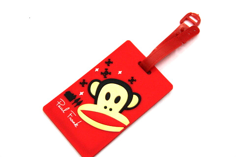 Silicone/Rubber luggage tags, cartoon,frank paul , #02001-0025-5