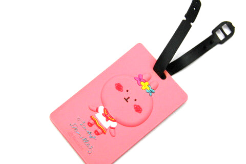 Silicone/Rubber luggage tags, cartoon,cute girl , #02001-0026