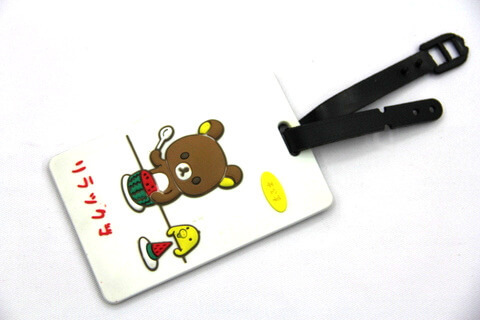 Silicone/Rubber luggage tags, cartoon,bear, #02001-0027
