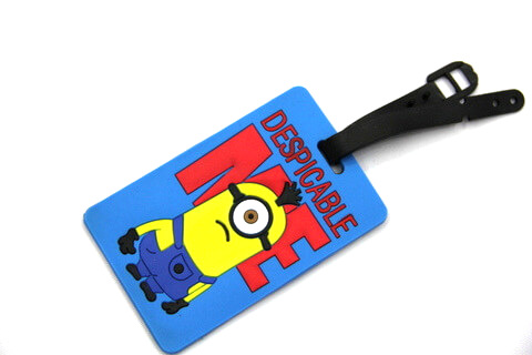 Silicone/Rubber luggage tags, cartoon,despicable me, #02001-0029
