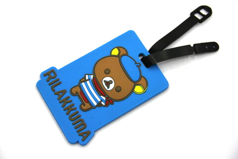 Silicone/Rubber luggage tags, cartoon,rillakkuma, #02001-0030-1