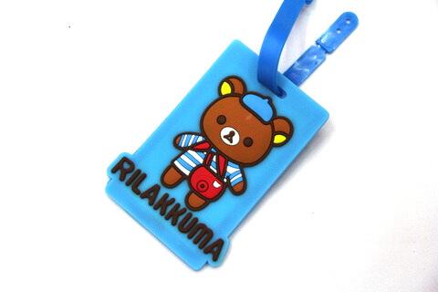 Silicone/Rubber luggage tags, cartoon,rillakkuma, #02001-0030-2