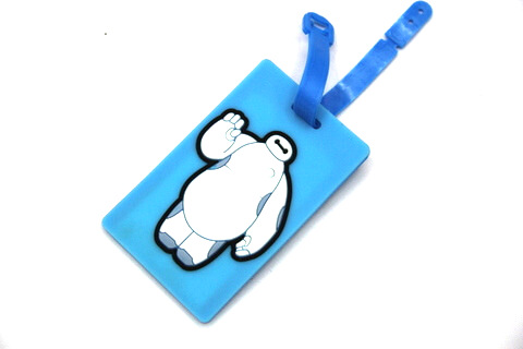 Silicone/Rubber luggage tags, cartoon,white big, #02001-0032-1