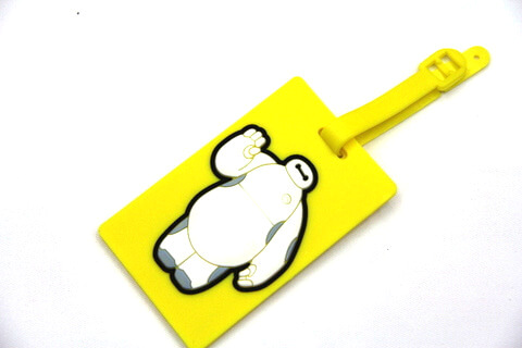 Silicone/Rubber luggage tags, cartoon,white big, #02001-0032-2