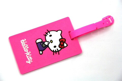 Silicone/Rubber luggage tags, cartoon,hello kitty, #02001-0033-1