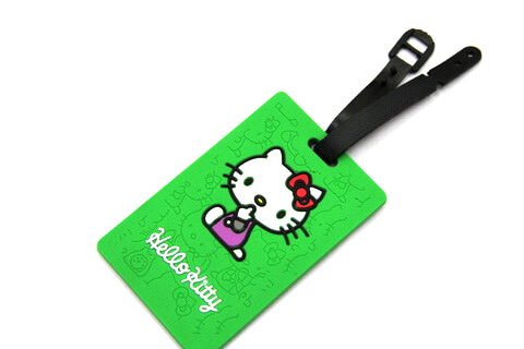 Silicone/Rubber luggage tags, cartoon,hello kitty, #02001-0033-2