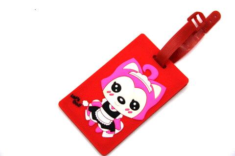 Silicone/Rubber luggage tags, cartoon,阿狸, #02001-0037-1