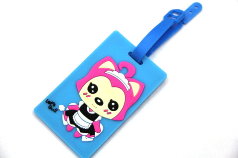 Silicone/Rubber luggage tags, cartoon,阿狸, #02001-0037-2