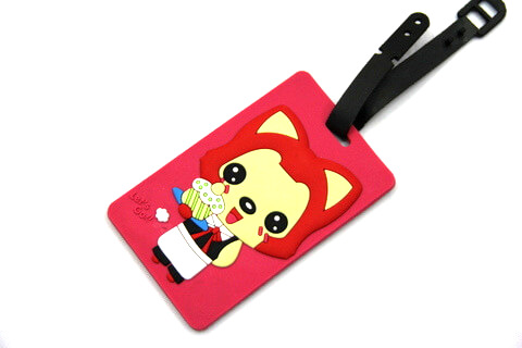 Silicone/Rubber luggage tags, cartoon,阿狸, #02001-0037-3