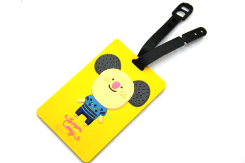 Silicone/Rubber luggage tags, cartoon,, #02001-0038