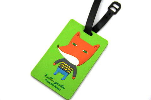 Silicone/Rubber luggage tags, cartoon,fox, #02001-045