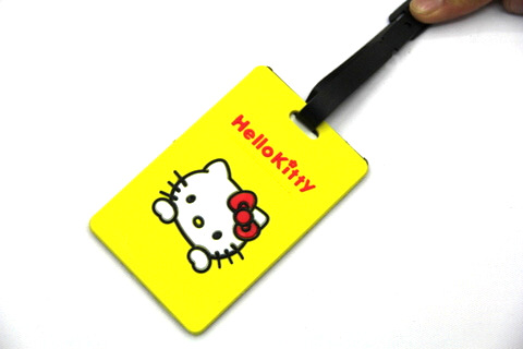 Silicone/Rubber luggage tags, cartoon,hello kitty, #02001-051-1