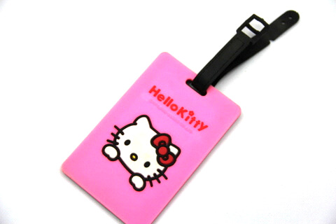 Silicone/Rubber luggage tags, cartoon,hello kitty, #02001-051-2