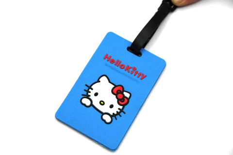 Silicone/Rubber luggage tags, cartoon,hello kitty, #02001-051-3