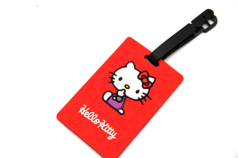 Silicone/Rubber luggage tags, cartoon,hello kitty, #02001-051-4