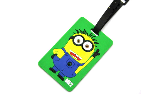 Silicone/Rubber luggage tags, cartoon,Despicable Me, #02001-058-1