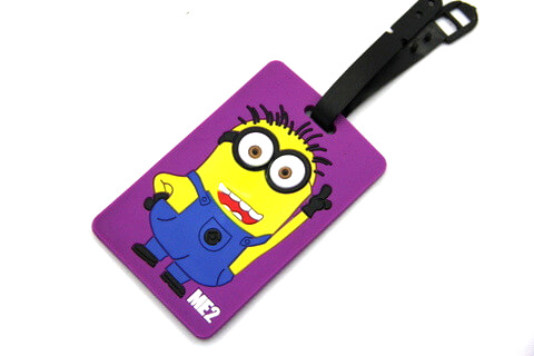 Silicone/Rubber luggage tags, cartoon,Despicable Me, #02001-058-2