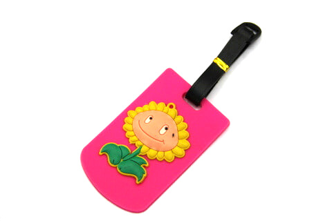 Silicone/Rubber luggage tags, cartoon,flower, #02001-063