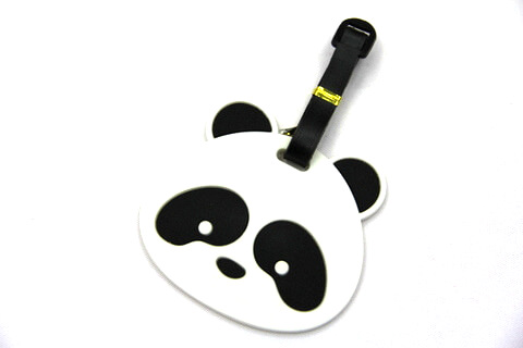 Silicone/Rubber luggage tags, cartoon,panda, #02001-070