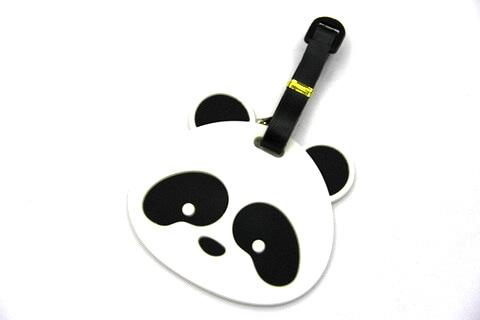 Silicone/Rubber luggage tags, cartoon,panda, #02001-070