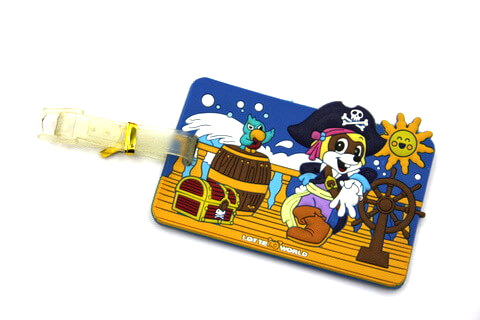 Silicone/Rubber luggage tags, cartoon,pirate, #02001-072