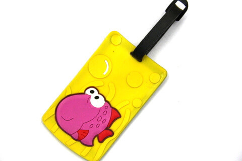 Silicone/Rubber luggage tags, cartoon,little fish, #02001-078