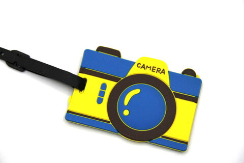 Silicone/Rubber luggage tags for tourist souvenir & gifts, Camera , #02003-003