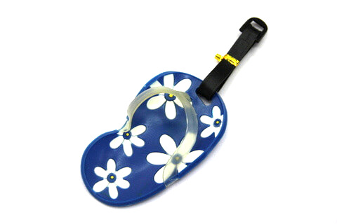 Silicone/Rubber luggage tags for tourist souvenir & gifts, small slippers , #02003-005-4