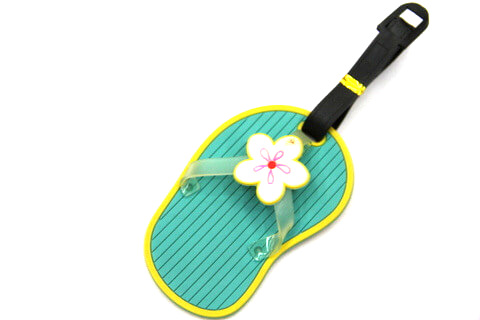 Silicone/Rubber luggage tags for tourist souvenir & gifts, cute slippers, #02003-011