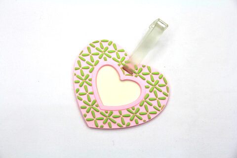 Silicone/Rubber Luggage Tags, wedding, #02003-021