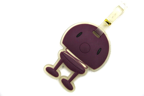 Silicone/Rubber luggage tags, cartoon,Pet Elf , #02001-079